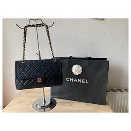 Chanel-TIMELESS-Bleu Marine,Bijouterie dorée