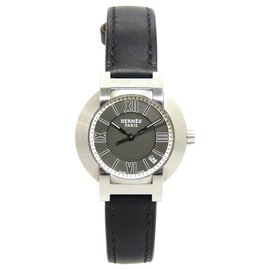 Hermès-Hermes Silver Nomade Watch-Black,Silvery