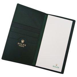 Rolex-Rolex Block Holder wallet-Dark green