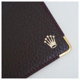 Rolex-Rolex brown card holder-Dark brown