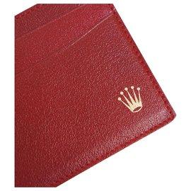 Rolex-Rolex red card holder-Dark red