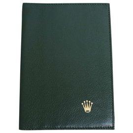 Rolex-Rolex wallet passport holder-Black,Green