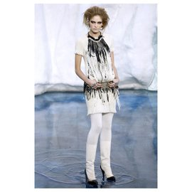 Chanel-Runway dress ''Arctic'' Collection-Cream