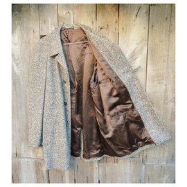 Autre Marque-Coat 3/4 in tweed t XL, Vintage-Multiple colors