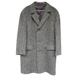 Autre Marque-vintage men's tweed coat L-Grey