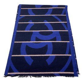 Chanel-Foulards de soie-Bleu