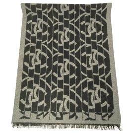Chanel-Silk scarves-Grey