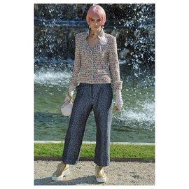 Chanel-Paris-Versailles metallic tweed jacket-Golden