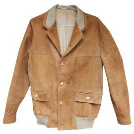 Autre Marque-vintage suede jacket size M-Light brown