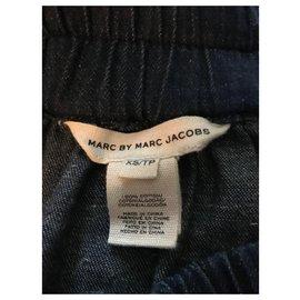 Marc by Marc Jacobs-Denim skirt-Dark blue