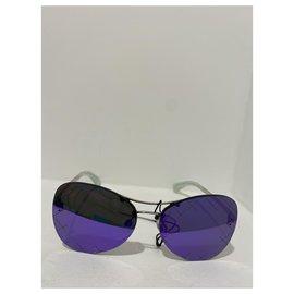 Chanel-Chanel Sunglasses , purple mirrored glass .Neuves-Silvery,Purple