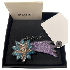 Chanel-Chanel Shooting Star brooch in multicolored resin. NEW ARTICLE-Multiple colors