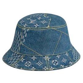 Louis Vuitton-Hats Beanies-Blue