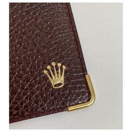 Rolex-ROLEX LEATHER BURGUNDY CARD HOLDER-Other