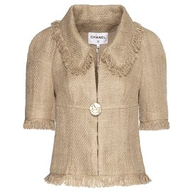 Chanel-new Paris-Greece tweed suit-Beige