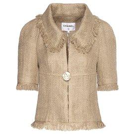 Chanel-nouveau costume en tweed Paris-Grèce-Beige