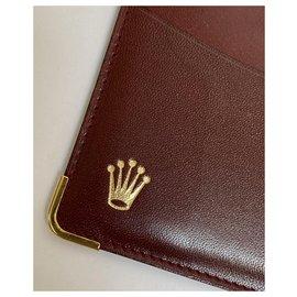 Rolex-ROLEX DARK RED LEATHER CARD HOLDER-Dark red