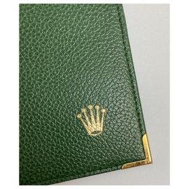 Rolex-ROLEX GREEN LEATHER WALLET-Green