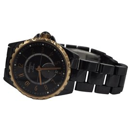 Chanel-Chanel 2010's black porcelain watch-Black