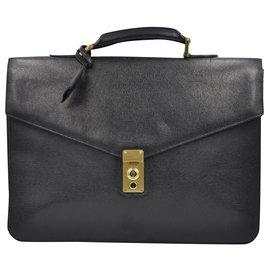Chanel-Mallette Vintage Chanel 1998 black leather-Black