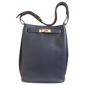 Hermès-Hermès So Kelly 22 Eclat-Navy blue