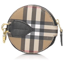 Burberry-Burberry Brown House Check Canvas Coin Pouch-Brown,Multiple colors,Light brown