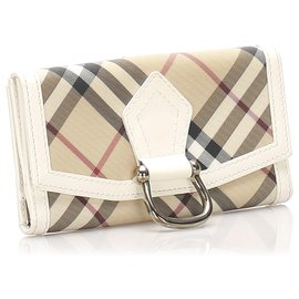 Burberry-Burberry Brown Nova Check Long Wallet-Brown,Multiple colors,Light brown