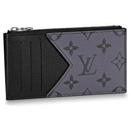 Louis Vuitton-Purses, wallets, cases-Grey,Dark grey