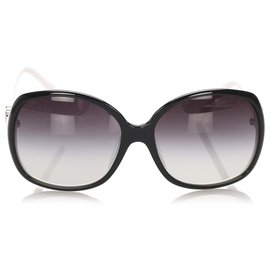 Chanel-Chanel Black Round Tinted Sunglasses-Black