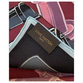 Louis Vuitton-Foulard en soie Louis Vuitton-Multicolore
