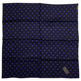 Louis Vuitton-Foulard en soie Louis Vuitton-Noir