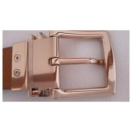 Hermès-Dark brown box and gold metal-Dark brown