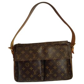 Louis Vuitton-Bags Briefcases-Brown