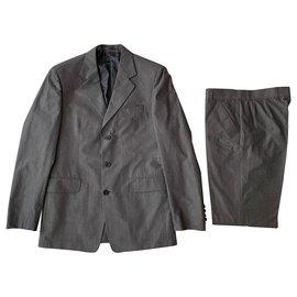 Yves Saint Laurent-Grey cotton sartorial suit-Grey