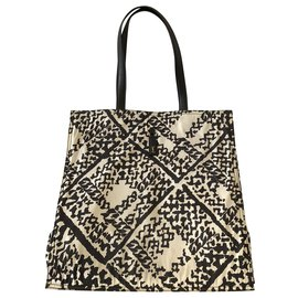 Yves Saint Laurent-Printed satin nylon tote-Multiple colors