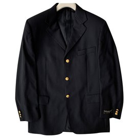 Yves Saint Laurent-Vintage dressy blazer jacket-Navy blue