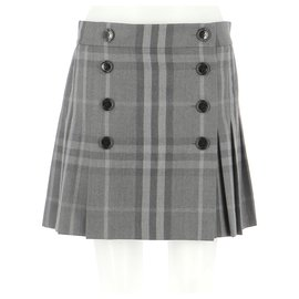 Burberry-Skirt suit-Grey