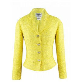 Chanel-famous Cruise skirt suit-Yellow