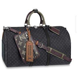 Louis Vuitton-Patchwork Keepall Louis Vuitton novo-Cinza