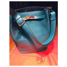 Hermès-Unique  bicolour So Kelly-Blue