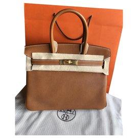 Hermès-Barenia Fauve Birkin 30-Marron