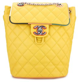 Chanel-rare Cuba Timeless Backpack-Yellow