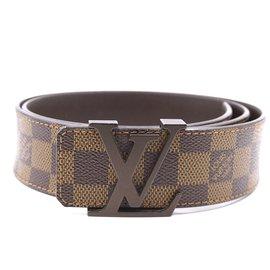 Louis Vuitton-Louis Vuitton Damier Ebene Initials Ceinture Taille 85/34-Marron