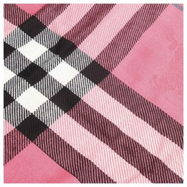 Burberry-Burberry Pink Plaid Wool Scarf-Pink,Multiple colors