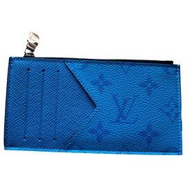 Louis Vuitton-LV coin card holder new-Blue