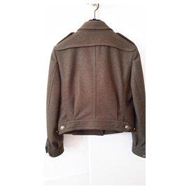 Burberry-Military style jacket-Khaki