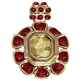 Chanel-Pendant necklaces-Red,Golden,Yellow