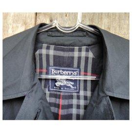 Burberry-Burberry woman raincoat vintage t 42 whit defect-Navy blue