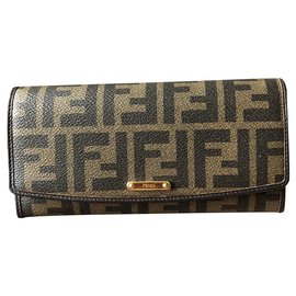 Fendi-Monogram wallet-Brown