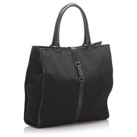 Gucci-Sac cabas Jackie en toile noire Gucci-Noir